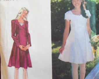 Jessica McClintock Simplicity Pattern 9654 Girl's Princess Seam Dress Sizes 12, 14