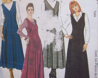 1990s Long, V-Neck Jumpers McCalls Pattern 9527 Sizes 14-16-18 Uncut, Factory Fold Pattern