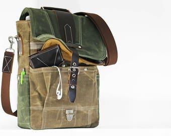 Vertical laptop messenger bag - convertible messenger 010076