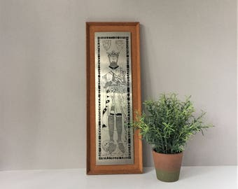 Robert The Bruce Stainless Steel Plaque, Monumental Brass Reproduction, Robert Braveheart, Scottish History, Medieval Wall Hanging