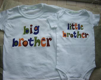 Custom Big Brother/Little Brother Bodysuit and Shirt Combo (NOT Personalized)