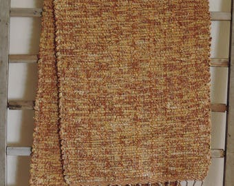 "Hand Woven Harvest Yellow Table Runner - 14"" x 56"""