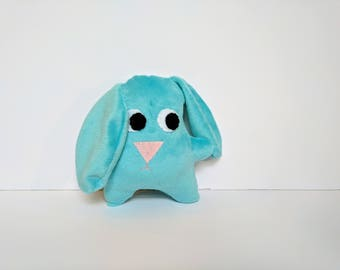 Blue Floppy Ear Rabbit Stuffed Animal / Super Soft Stuffed Blue Bunny Plush