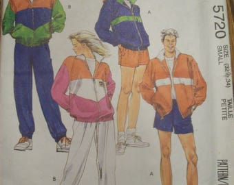 McCall's 5720 Misses Men's and Teen Boys Jacket Pants or Shorts Size 32.5 to 34