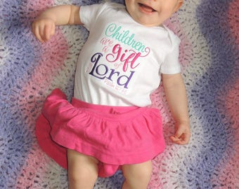 Children are a Gift of the Lord Psalm 127 Onesie (Personalization available)