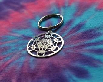 Biolojewelry - Sacred Geometry Metatron's Cube Keychain