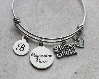 Awesome Nurse Bangle Bracelet, Nurse Gifts, Nurse Gift Ideas, Thank-you Gifts for Nurse, Nurse Thank-you Gifts, Thank-you Gifts, Nurse Ideas