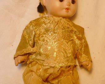 1930s Cute Little Oriental Doll -From World's Fair in 1933?