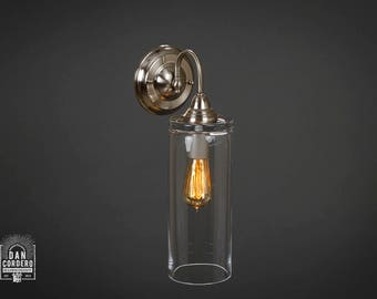 Wall Sconce Light Fixture |  Edison Bulb | Brushed Nickel | Oil Rubbed Bronze | Edison light | Cylinder Shade
