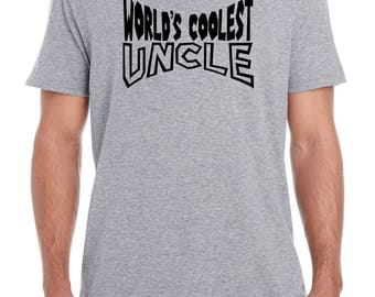 pregnancy announcement, baby reveal to uncle, uncle gift, uncle shirt, WORLD'S COOLEST UNCLE, uncle birthday, uncle Christmas gift, uncle