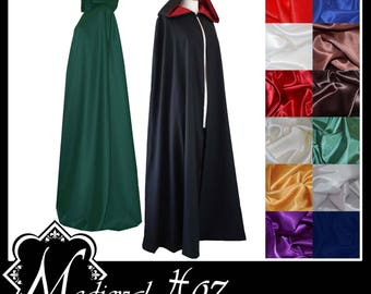 High Quality Unisex Poly Cotton Cloak lined with Shimmer Satin. Ideal for LARP Medieval Costume Made especially- Choose your colours! NEW!