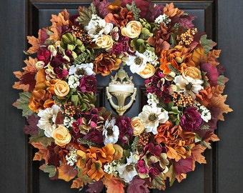 Fall Wreaths for Front Door, Fall Floral Wreaths, Fall Door Decor, Fall Door Wreath, Decor Fall Wreath, Autumn Wreath for Door