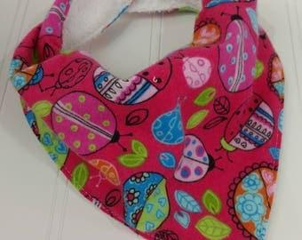 Bandanna Baby Bib - Pink Ladybug