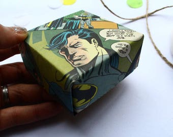 Origami Gift Box For Jewellery Batman Theme