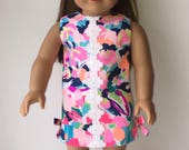 NEW LILLY Multi Pina Colada Club Doll Dress Authentic Lilly Pulitzer® Fabric -  American Doll Clothes - 2018 Spring