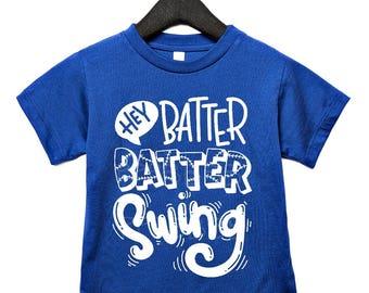 baseball kids shirt, t-ball shirt, hey batter batter, boys baseball shirts, toddler baseball, boys baseball tshirt, boys baseball top