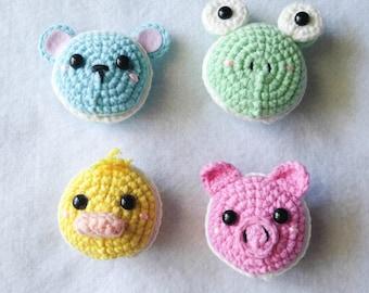 Macaron Animals Crochet Cookies