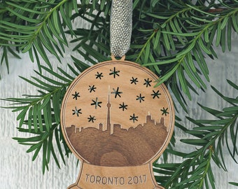 Toronto Snow Globe Ornament