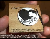 Chupacabra Pin - cryptid cryptozoology cryptozoological gift button badge Mexican goat sucker South Central American vampire animal