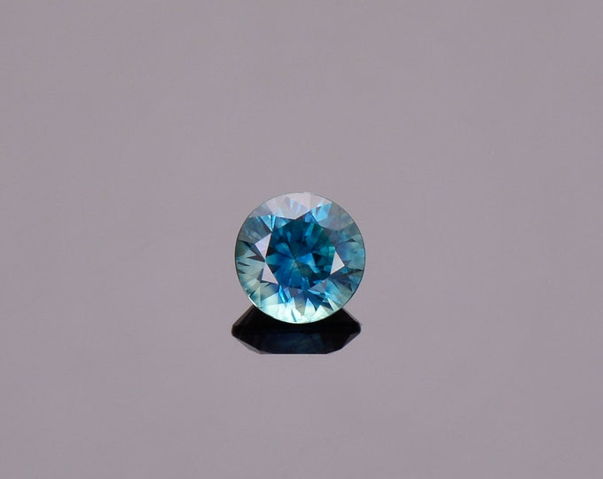 SALE EVENT! Fantastic Blue Green Sapphire Gemstone from Montana, Round, 0.86 cts., 5.5 mm.