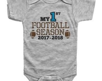 Boys Football Onesie, My First Football Season, Football Baby Outfit, Newborn Football Bodysuit, Boys Football Onesie, Baby Football Onesie