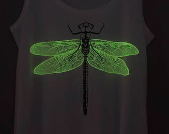 Orange Dragonfly Glow-in-the-dark Woman Tank top