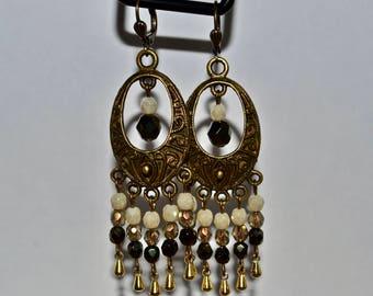 Dangly Brass Boho Earrings