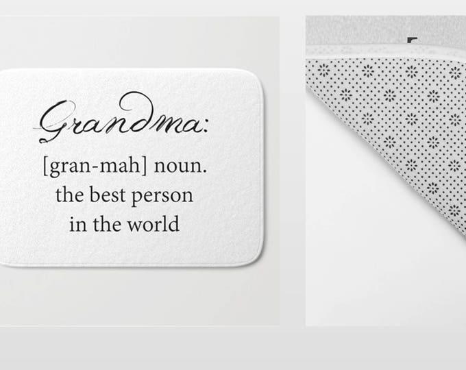 Bath Mat - Grandma Bath Mat - Grandma Definition - Grandma Gift - Bathroom Mat -  Made to Order