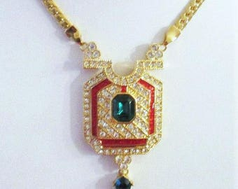 Jackie Kennedy Necklace - 24K Gold Plated Foxtrot Design