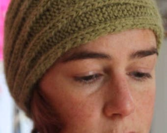 Wide adult knitted headband