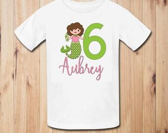 Mermaid Birthday Party Shirt