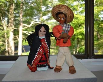 Vintage Mexican Folk Dolls