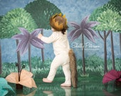 Where The Wild Things Are Tail || Fur Tail Costume || First Birthday Where The Wild Things Are Costume ||  Wild One Crown Tail