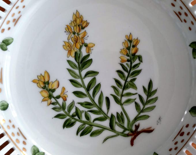 Danish Porcelain Bowl Genista Tinctoria Hand Painted 1970 Royal Copenhagen