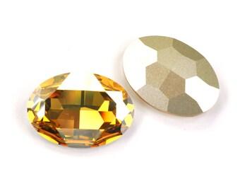 Swarovski 30x22mm Oval Shape 4127 Crystal Golden Shadow 1 Piece
