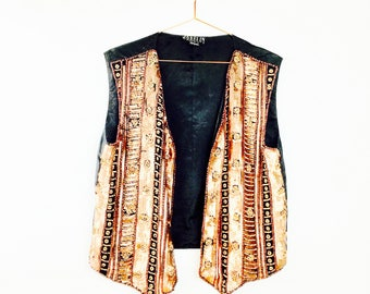 Bohemian vintage vest, vest, one size, Festival, summer