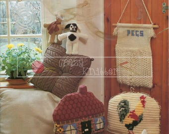 Country Cottage 4ply DK Aran Patons 250 Vintage Knitting Crochet Patterns PDF Instant Download