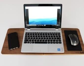 Bureau moderne portatif table d ordinateur portable noyer