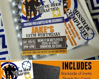 Dart Wars Invitation | Dart Wars | Dart Party Printable Invitation | Dart Decorations | Dart Birthday | Invitation | Epic Parties by REVO