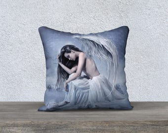 blue Angel fantasy art pillow cover/case accent pillow