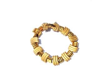 Vintage Bracelet Gold Money Bracelet Monet