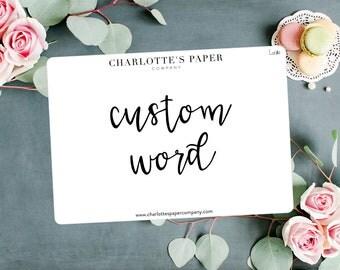 Script Planner Stickers / Custom Stickers / Planner Stickers / Foiled Planner Stickers / Traveler's Notebook Stickers / Custom L