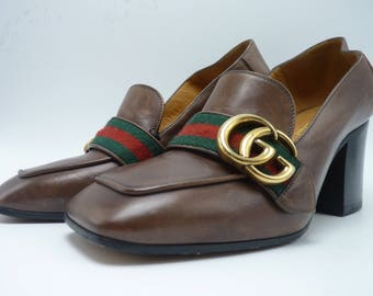 "GUCCI Marmont Pumps / Loafers with ""GG"" Hardware"