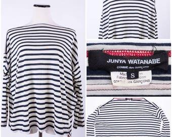 COMME DES GARCONS Junya Watanabe Designed Black & White Striped Blouse