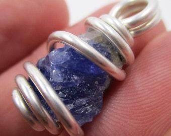 Tanzanite Pendant / Tanzanite Necklace / Raw Crystal Necklace / Synergy 12 / Handmade Jewelry / Spiritual GROWTH / Powerful INDIGO Energy