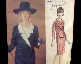 Vintage Vogue Sewing Pattern Uncut No. 1376 Dress Size 10 Jacques Heim