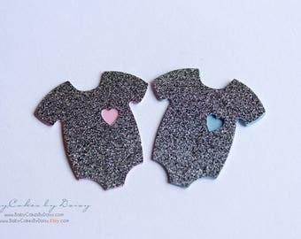 Gender Reveal Party - Confetti - Baby Shower Confetti - Baby Shower Table Scraps - Onesie Confetti - Gender Reveal Ideas - Boy or Girl