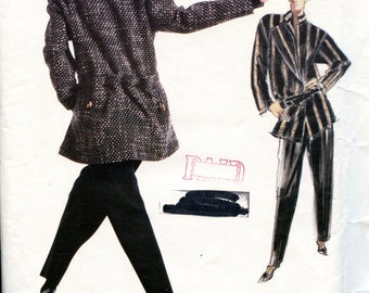 Vogue 1946 Issey Miyake Womens Jacket Tapered Pants & Top Vogue Individualist Size 10 Bust 32 1/2 UNCuT Womens Sewing Pattern