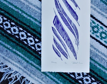 Floating Feather Small Edition Print