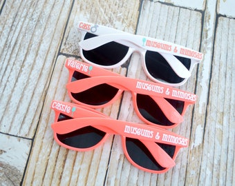 Personalized bachelorette sunglasses, bridal party gifts, girls trip, summer outdoors, colorful sunglasses, bride sunglasses, bridesmaid